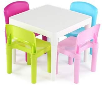 Tot Tutors Plastic Table & 4 Chairs - Bright Colors