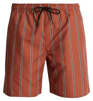 Saturdays NYC Timothy Striped Swim Shorts - Mens - Brown