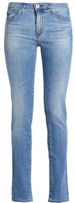 AG Adriano Goldschmied Faded Mid-Rise Skinny Jeans
