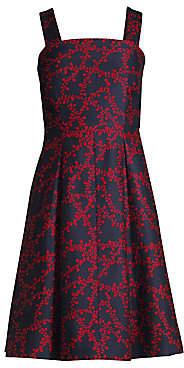 Draper James Women's Line Floral Cocktail Dress