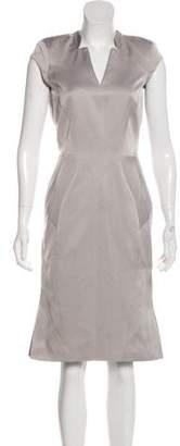 Zac Posen Sleeveless Sheath Knee-Length Dress