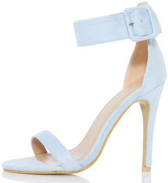 Quiz Light Blue Ankle Buckle Sandals
