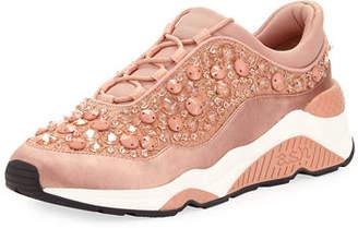 Ash Muse Beaded Crystal Sneakers