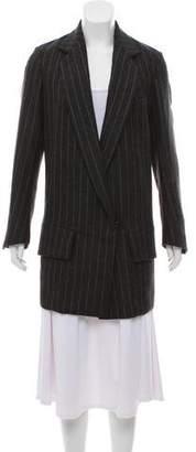 Saint Laurent Wool Striped Short Coat
