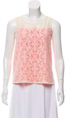 Marc by Marc Jacobs Lace-Accented Sleeveless Top