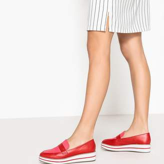La Redoute Collections Platform Loafers with Stripe Detail
