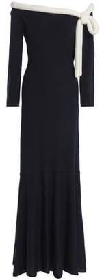 Oscar de la Renta Knotted Wool Maxi Dress