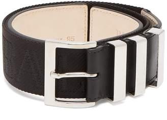 Balmain Triple-loop logo-jacquard belt