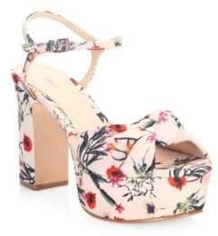 Schutz Thalyta Floral-Print Sandals
