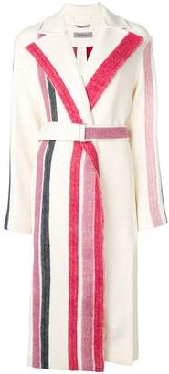Sportmax striped single-breasted coat