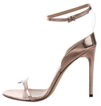 Sergio Rossi Metallic High-Heel Sandals w/ Tags