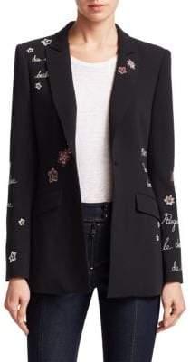 Cinq à Sept Estelle Embroidered Blazer