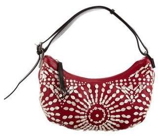 Gianfranco Ferre Leather Embellished Shoulder Bag