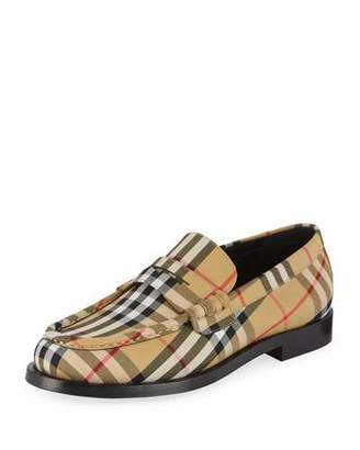 Burberry Men's Moore Signature Check Penny Loafer