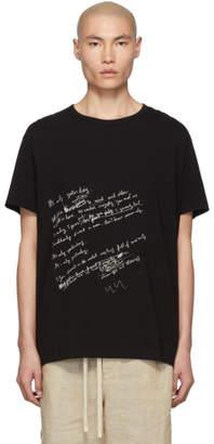 Yohji Yamamoto Black Letter T-Shirt