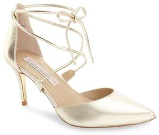 Kristin Cavallari by Chinese Laundry 'Opel' Lace-Up Pointy Toe Pump (Women)