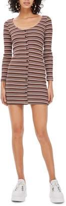 Topshop Stripe Minidress