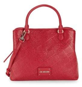 Love Moschino Embossed Faux Leather Crossbody Bag