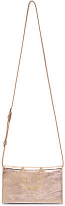 Charlotte Olympia Pink Metallic Long Feline Bag