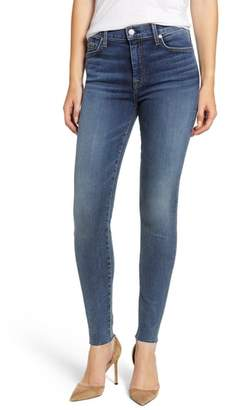 7 For All Mankind b(air) The Ankle Raw Hem High Waist Skinny Jeans