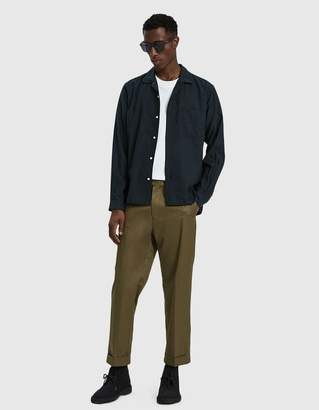 Gitman Brothers Wool Rayon Blend Shirt in Olive
