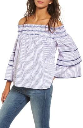 Women's Parker Largo Off The Shoulder Blouse $198 thestylecure.com
