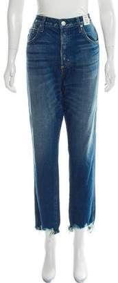 Amo Distressed High-Rise Jeans