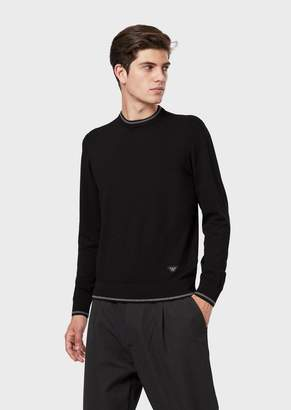 Giorgio Armani Plain-Knit Sweater With Contrasting Edges