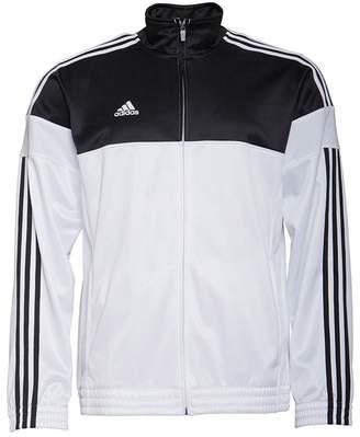 adidas Mens 3 Stripe Warm Up Basketball Track Jacket Black/White