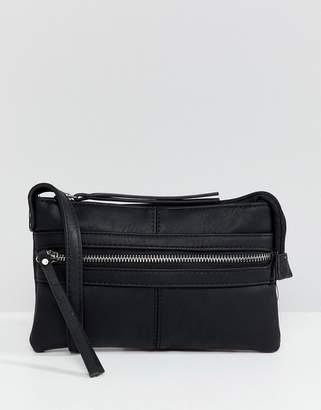 Pieces zip pocket cross body bag