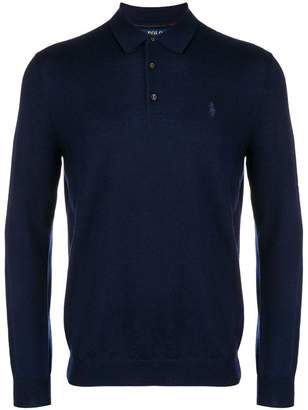 Polo Ralph Lauren logo embroidered polo sweater