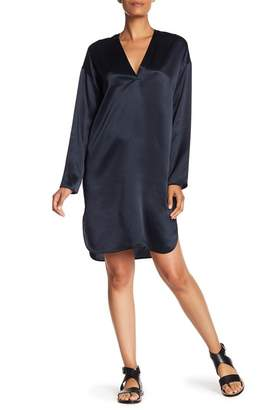 Vince V-Neck Silk Tunic Dress