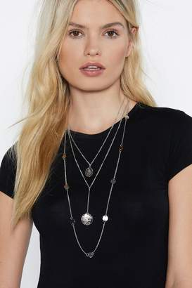 Nasty Gal Say a Little Prayer Layered Necklace