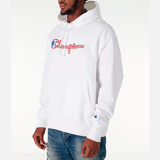 Champion Men's Reverse Weave Satin Stitch Hoodie