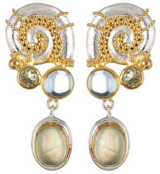 MICHOU Two-Tone Gold Plated Sterling Silver Poseidon's Treasure Earrings