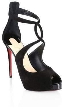 Christian Louboutin Rosie Velvet d'Orsay Stiletto Sandals