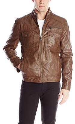 Kenneth Cole Reaction Men's Faux-Leather Moto Jacket