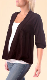 3/4 Sleeve Open Front Maternity Cardigan
