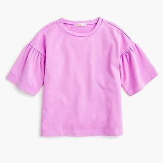 J.Crew Girls' gathered-sleeve T-shirt