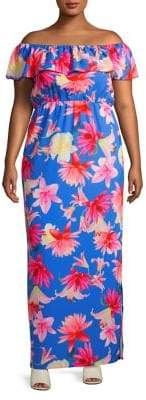 Bardot Quiz Curve Plus Floral Empire Maxi Dress