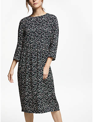 Collection WEEKEND by John Lewis Lyda Winter Floral Midi Dress, Black