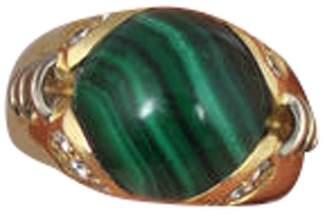 Fratelli Lani 18K Yellow Gold Malachite Diamond Ring