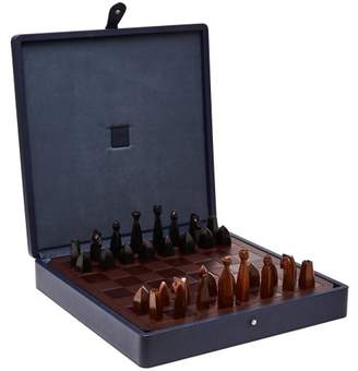 Dunhill - Boston Leather Chess Set - Mens - Dark Blue