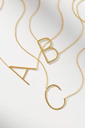 Anthropologie Block Letter Monogram Necklace