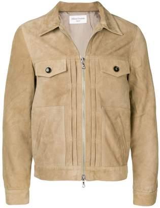 Officine Generale slim-fit leather jacket
