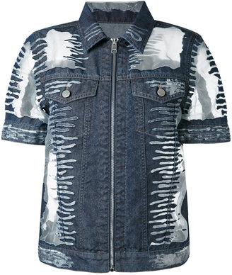 Diesel short-sleeve denim jacket $376.13 thestylecure.com