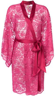 Dolci Follie floral embroidered dressing gown
