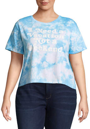 Freeze Need a Vacation Cropped Tee - Juniors Plu