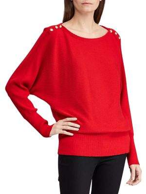 Lauren Ralph Lauren Petite Petite Boatneck Ribbed Sweater