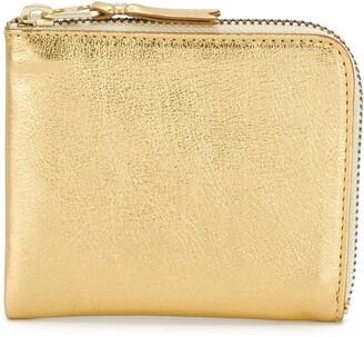 Comme des Garcons metallic zipped wallet